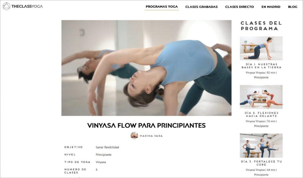 clase completa de vinyasa yoga para principiantes