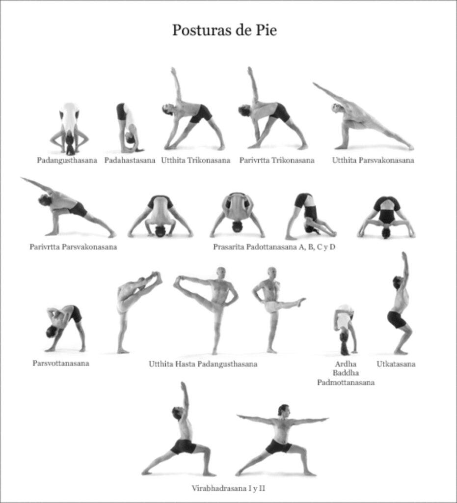 posturas de pie en ashtanga yoga