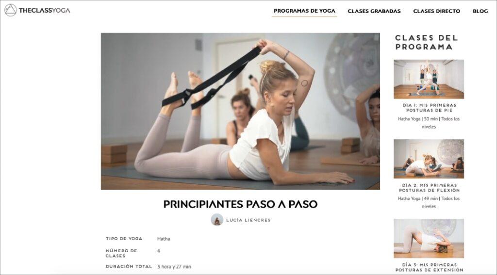 extensiones en yoga