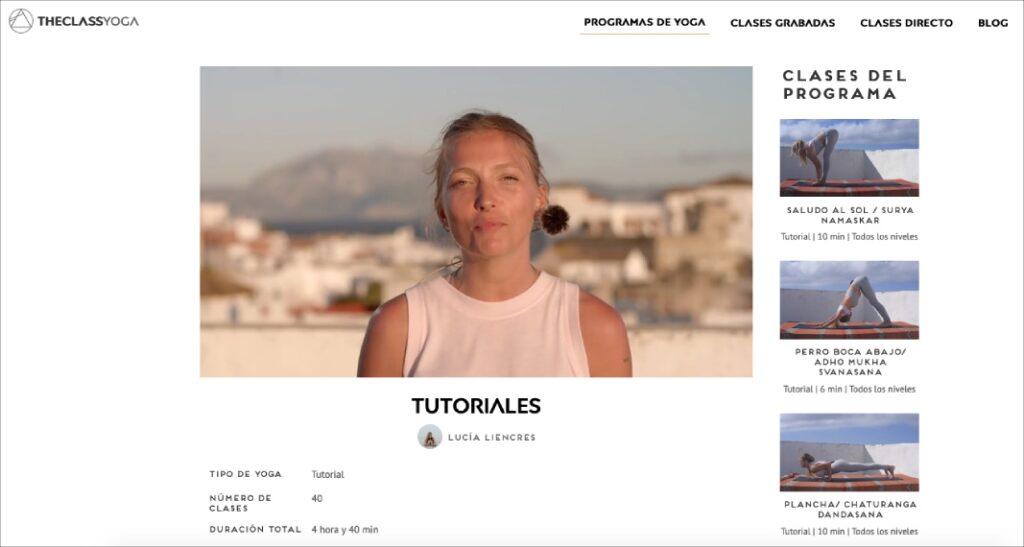 clases premium y tutoriales sobre posturas de yoga