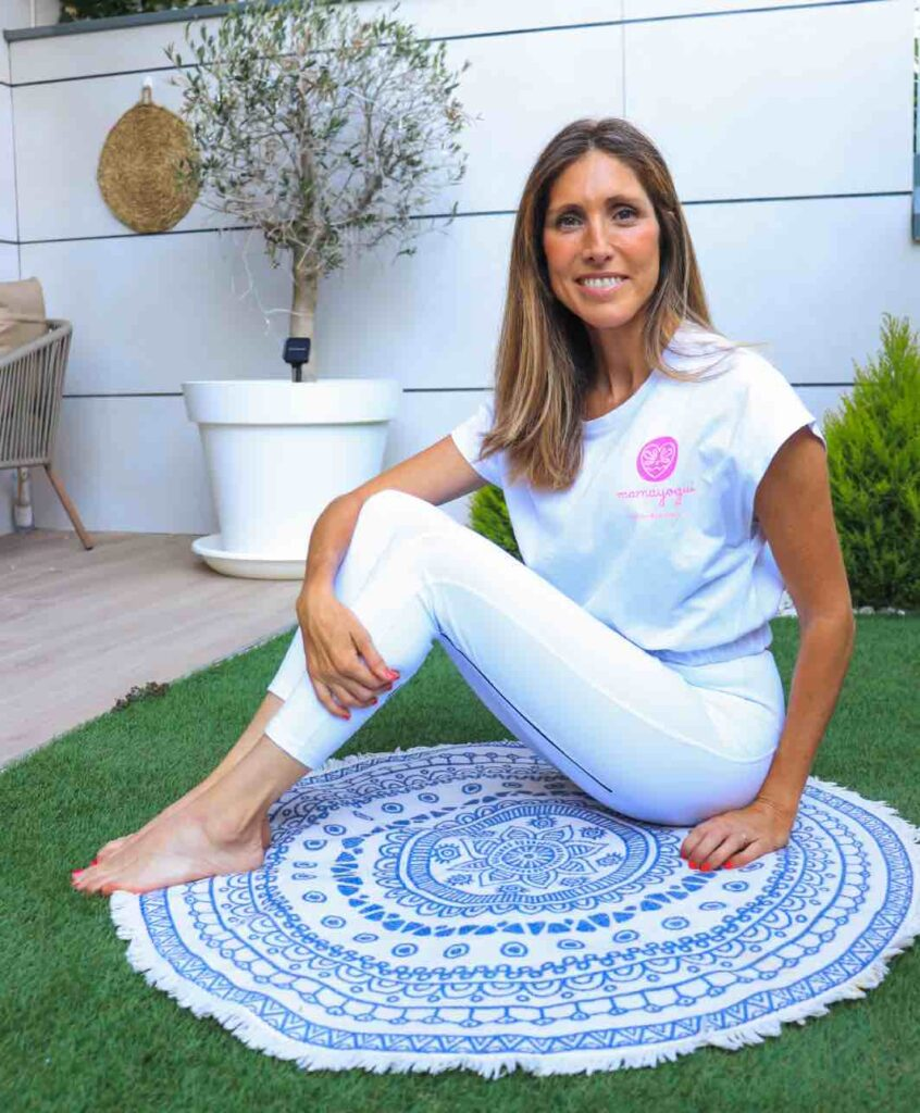 emprendedora de proyecto de yoga