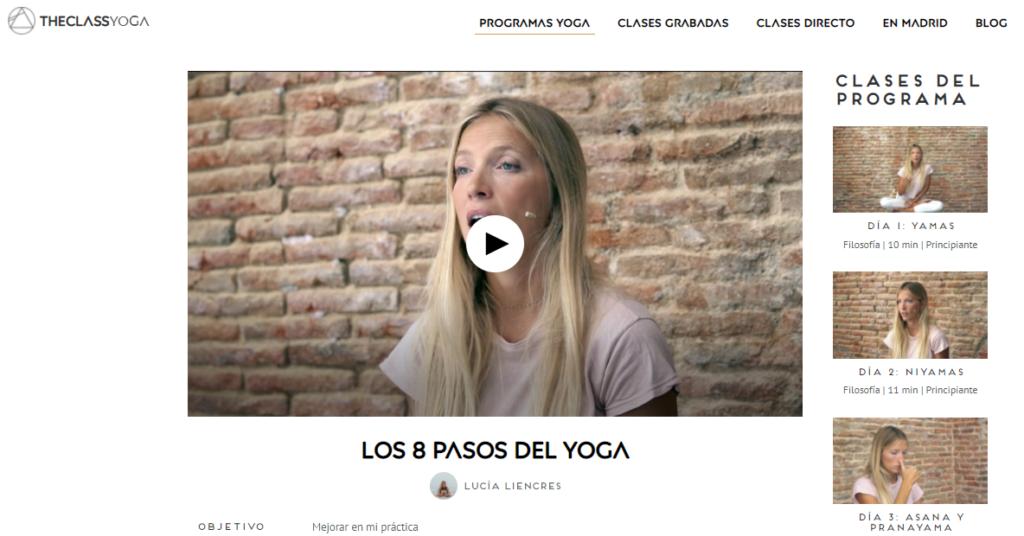 8 pasos yoga profe